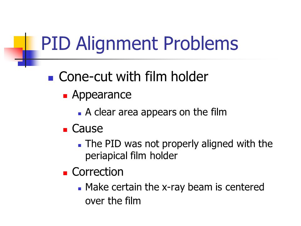 PID Alignment Problems