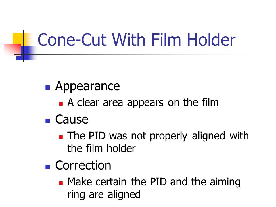 Cone-Cut With Film Holder