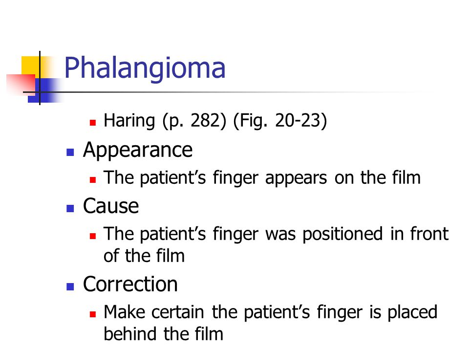 Phalangioma Appearance Cause Correction Haring (p. 282) (Fig )