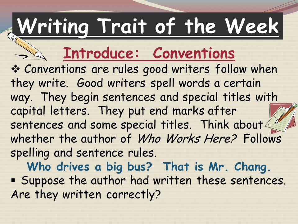 Writing Trait of the Week