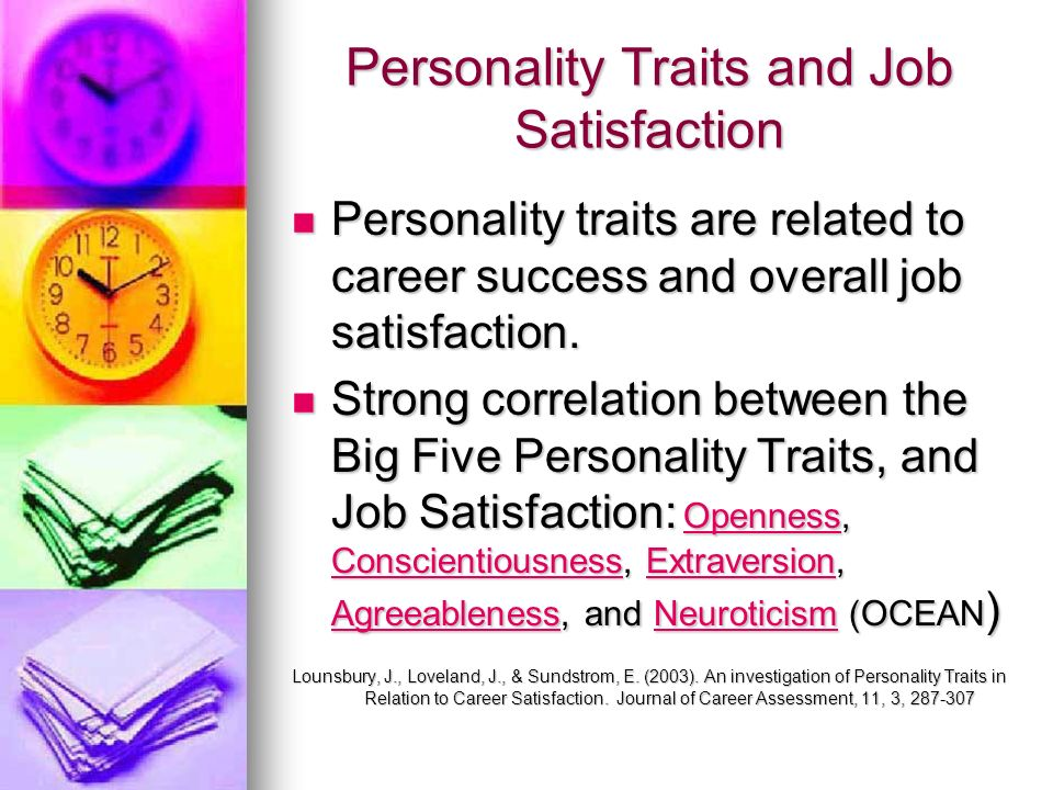 Personality Traits and Job Satisfaction