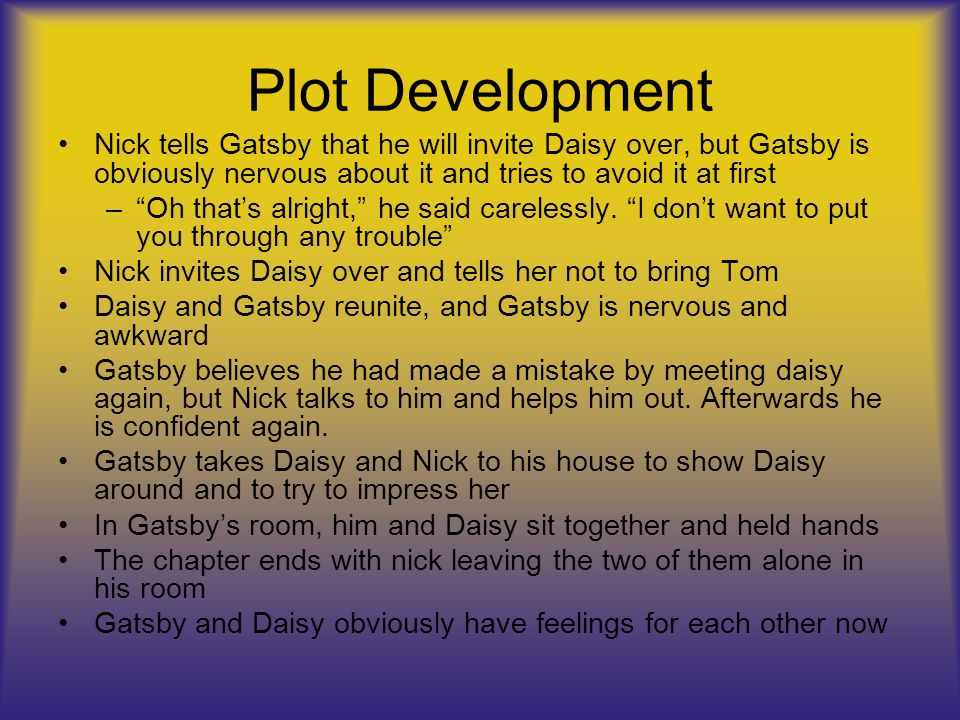 why is nick telling the story in the great gatsby
