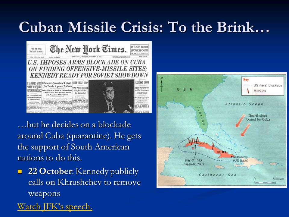 The Cuban Missile Crisis: The World on the Brink ppt video