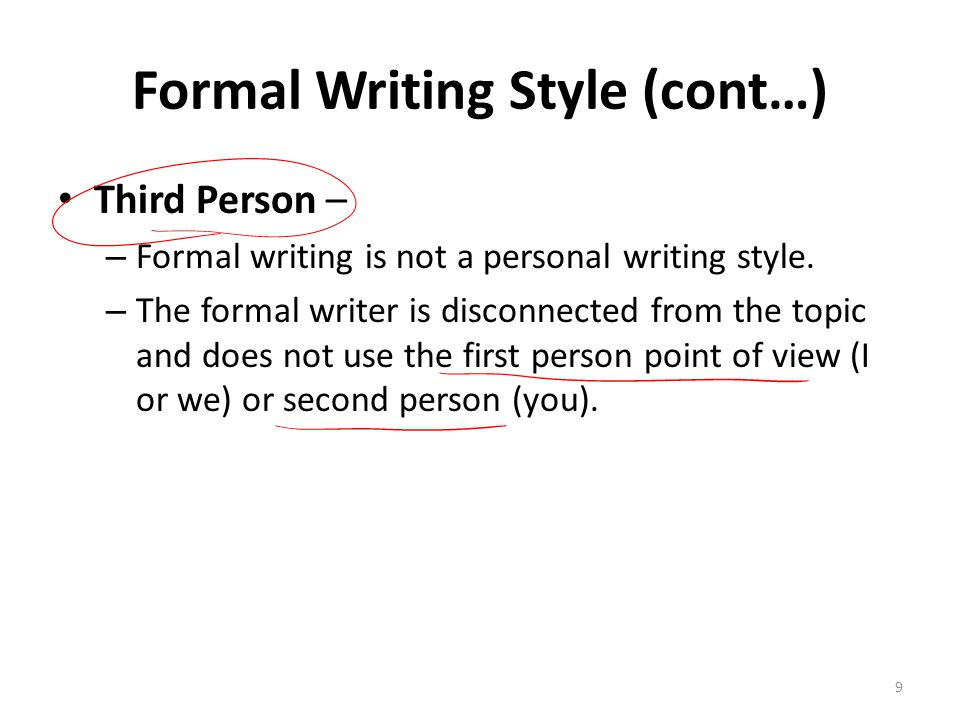 third person writing style