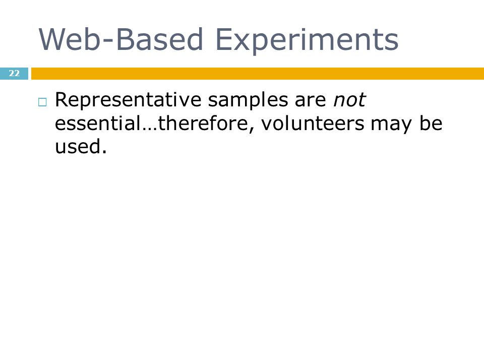 Web-Based Experiments