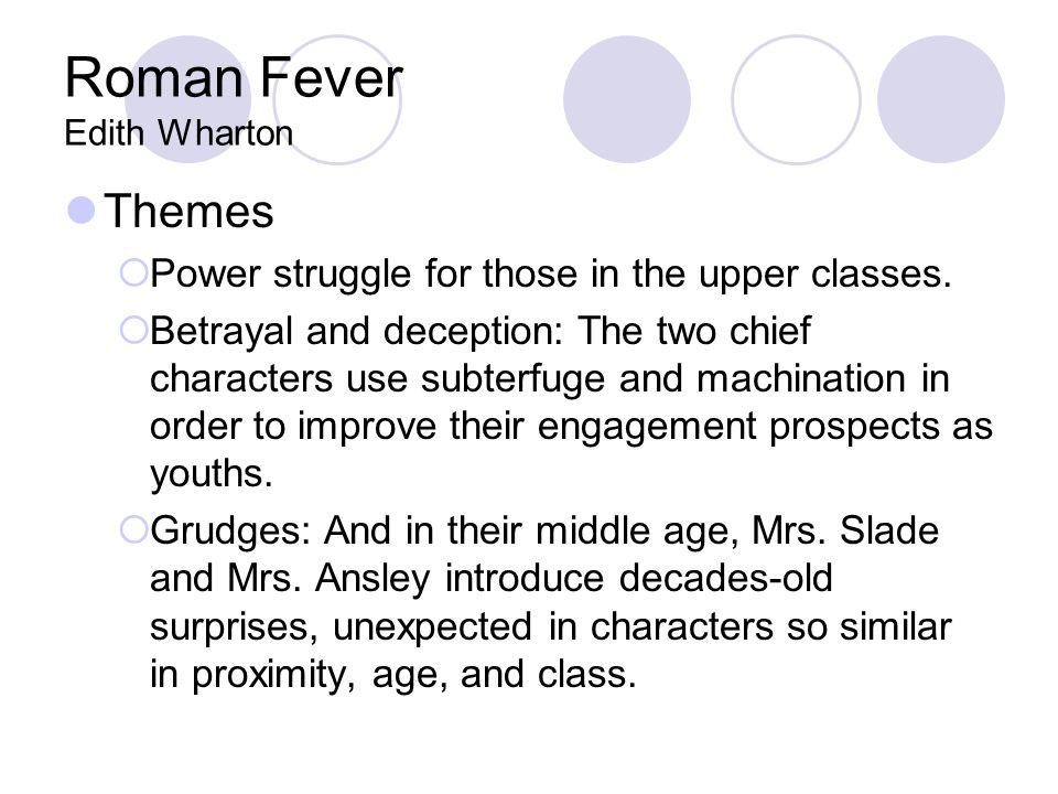 edith wharton roman fever analysis