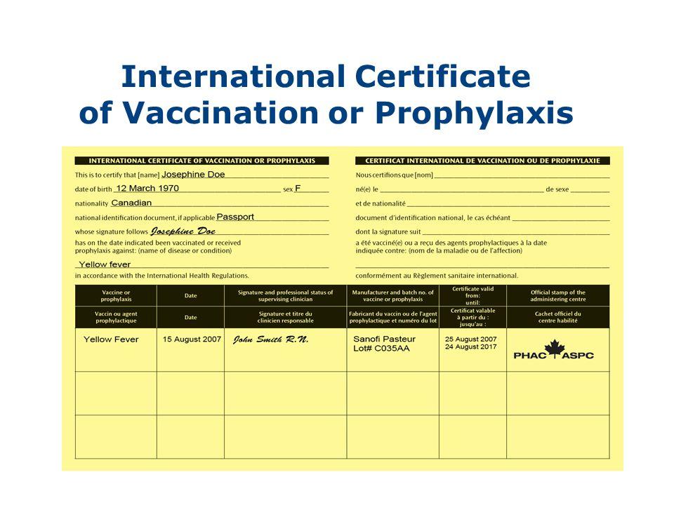 Modernization Of Canadas Yellow Fever Vaccination Program Ppt