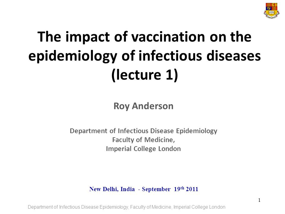 Department of Infectious Disease Epidemiology Imperial College London