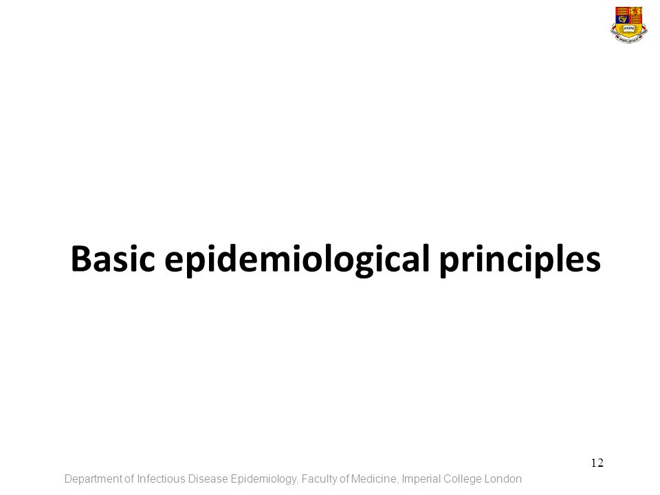 Basic epidemiological principles