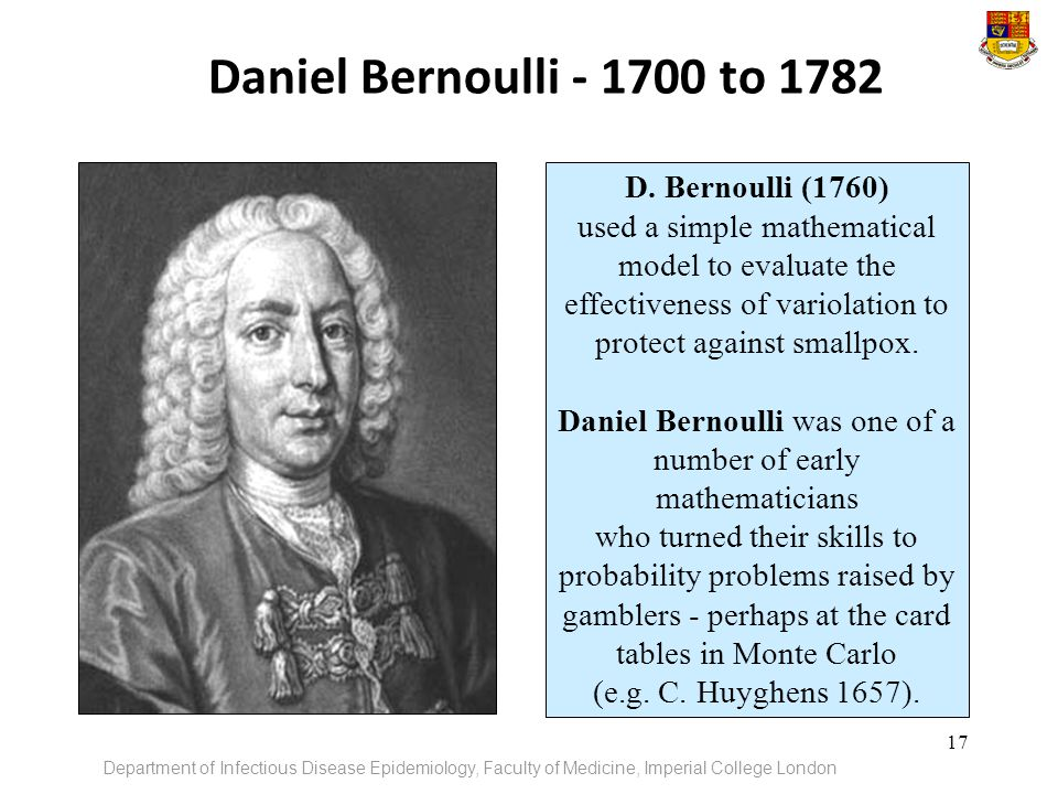 Daniel Bernoulli was one of a number of early mathematicians