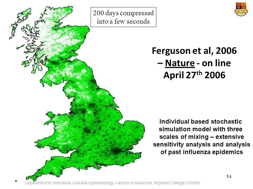 Ferguson et al, 2006 – Nature - on line April 27th 2006