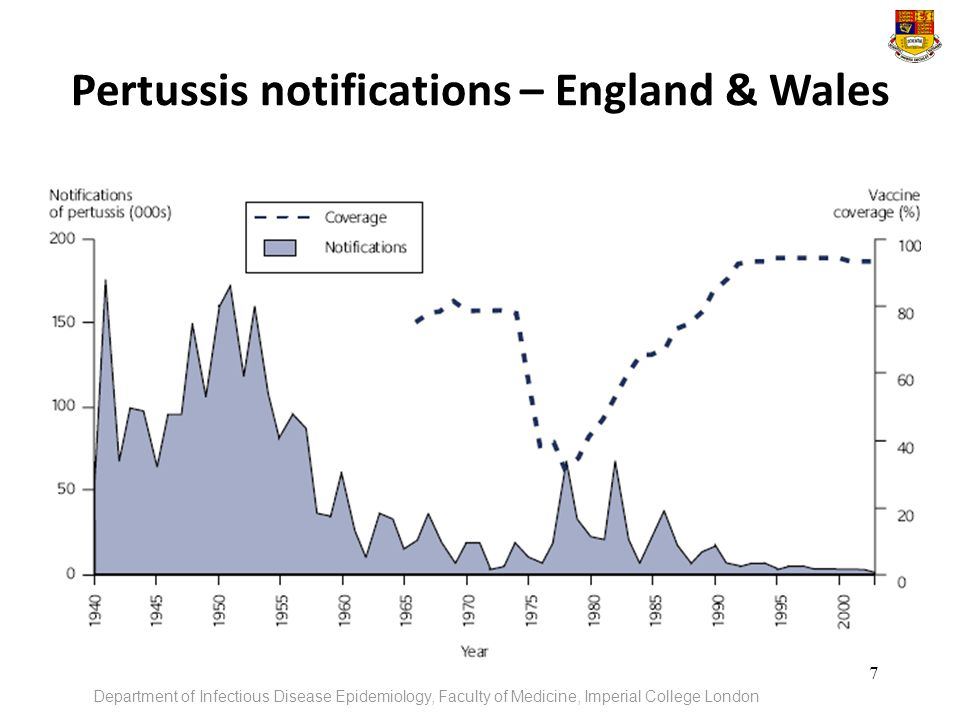 Pertussis notifications – England & Wales