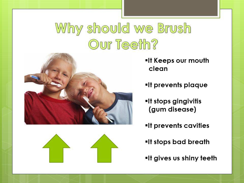 Why should we Brush Our Teeth