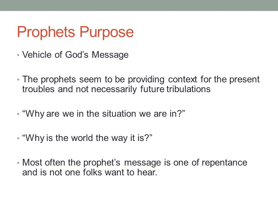 Prophets AND Prophecy  - ppt video online download