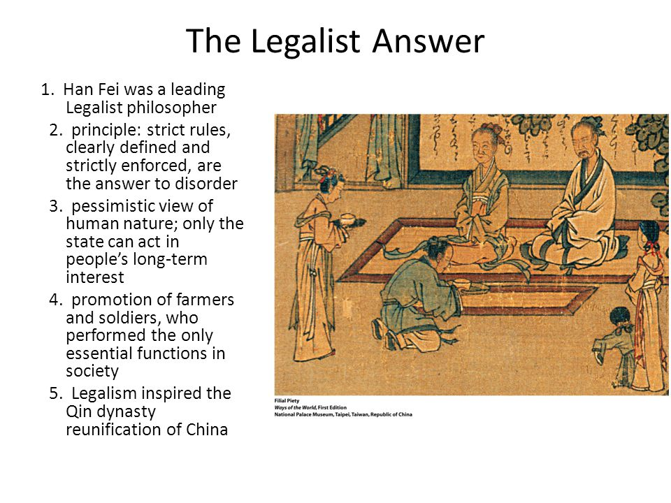 Image result for Legalism China rules history'