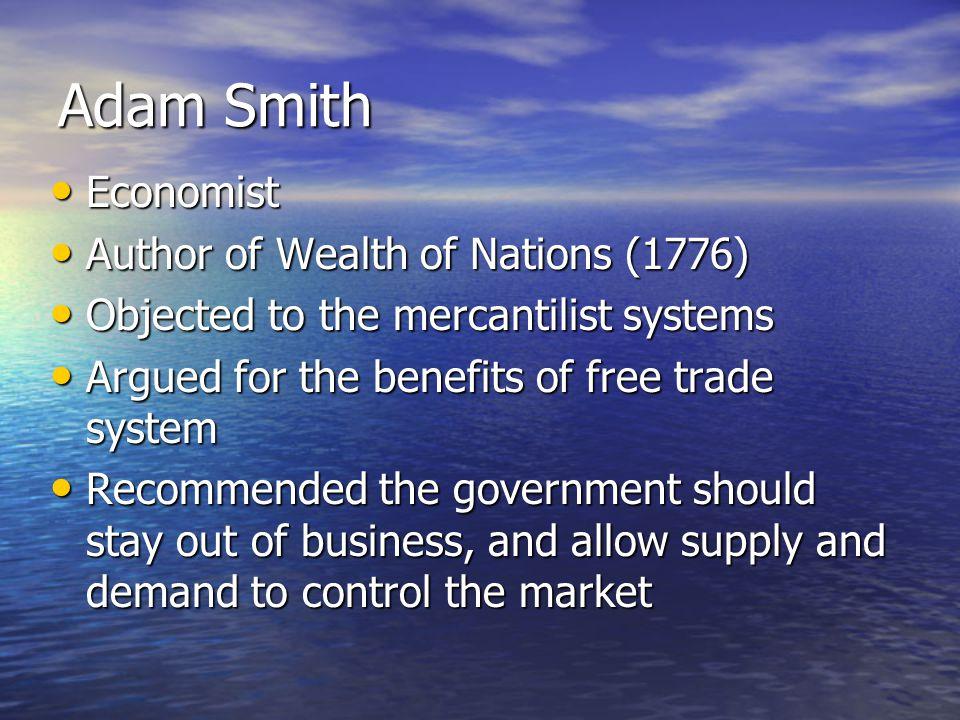 Adam Smith Economist Author of Wealth of Nations (1776)