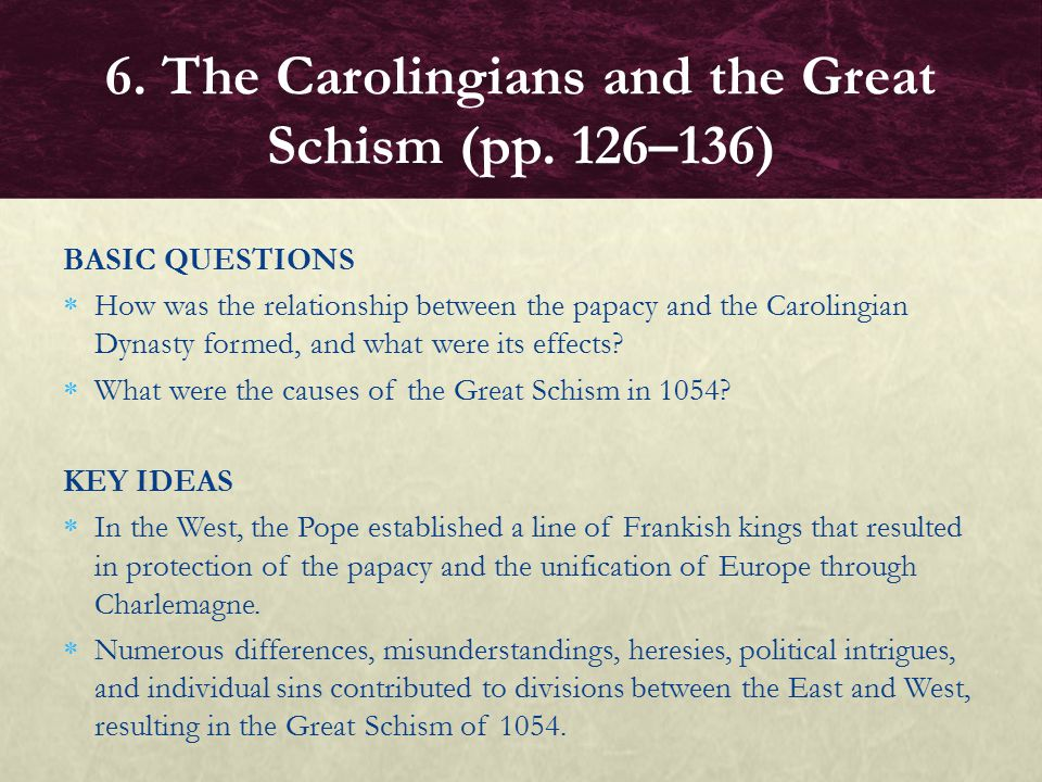 what were the effects of the great schism