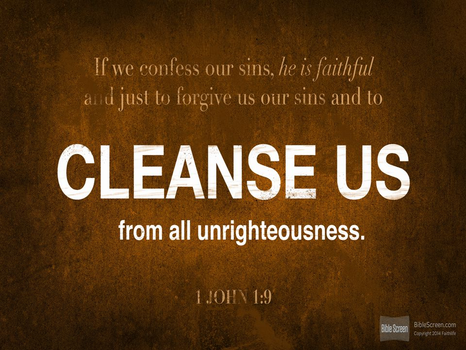 1 John 1:8-10 (NIV) [8] If we claim to be without sin, we deceive ourselves and the truth is not in us.