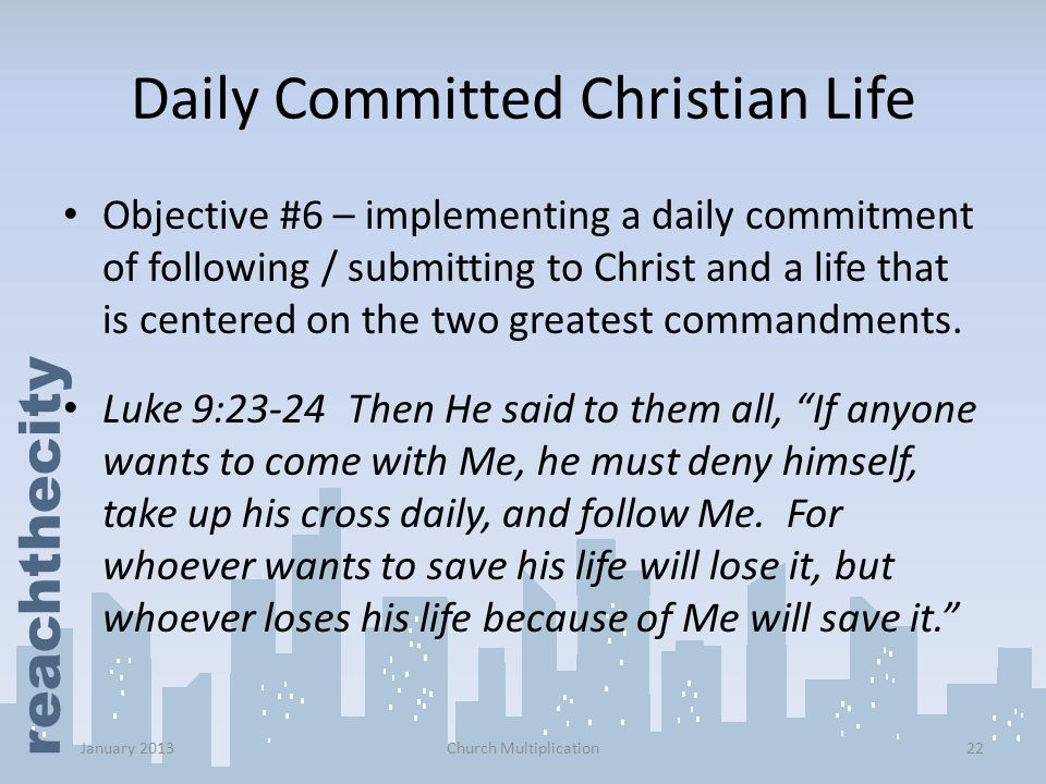 Daily Committed Christian Life