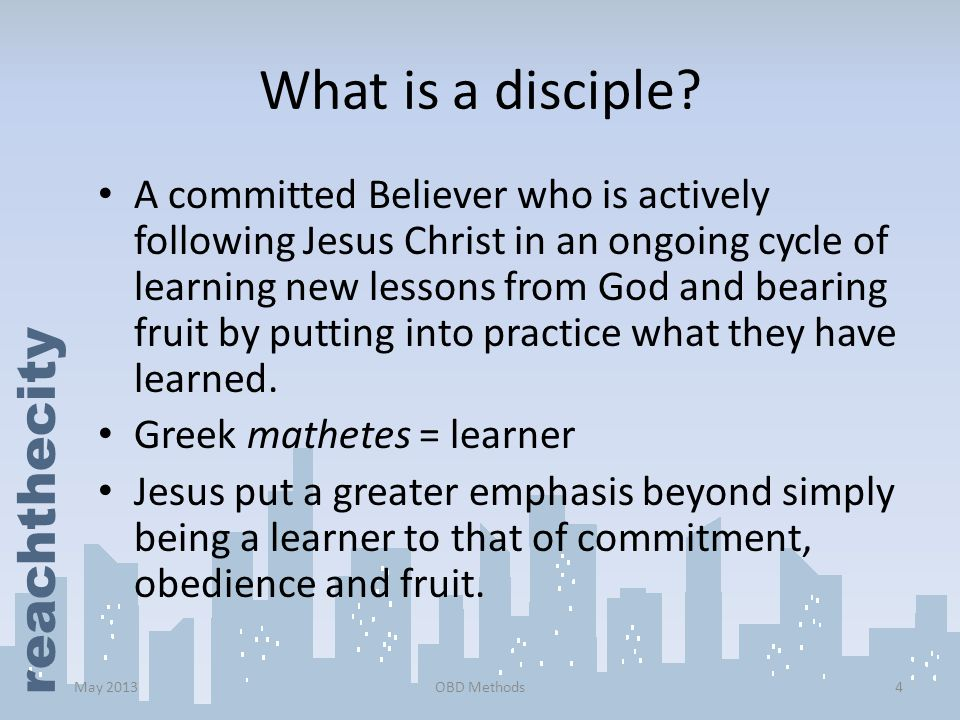 What is a disciple