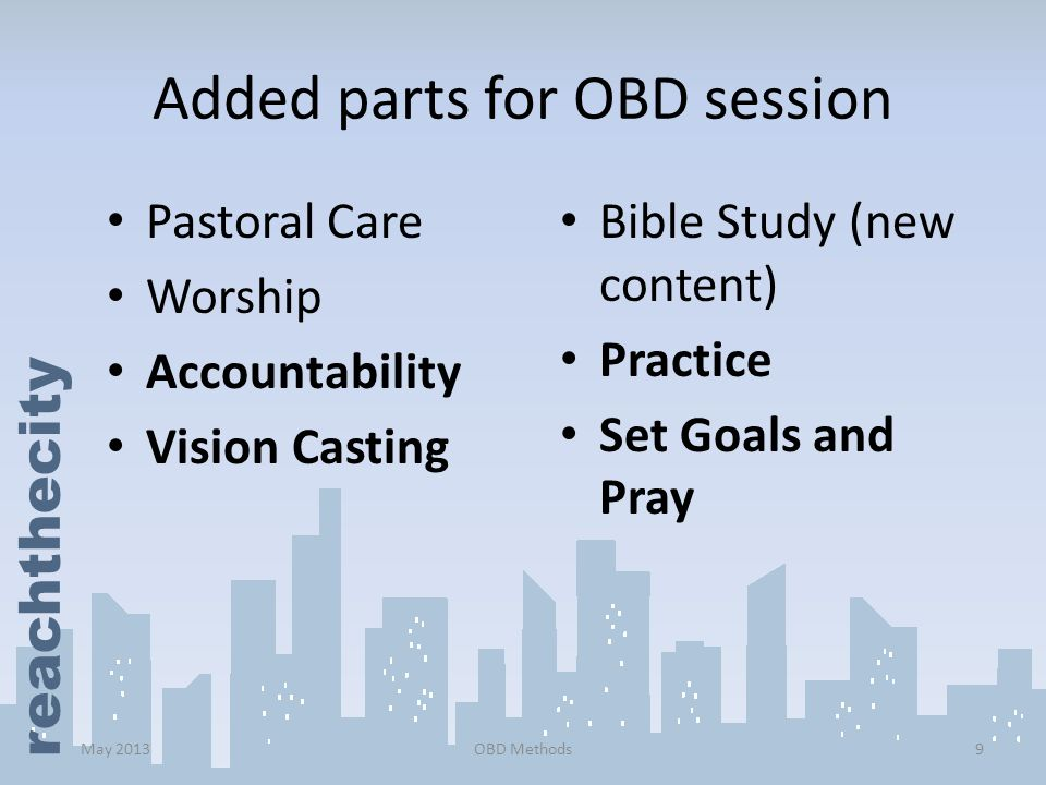 Added parts for OBD session
