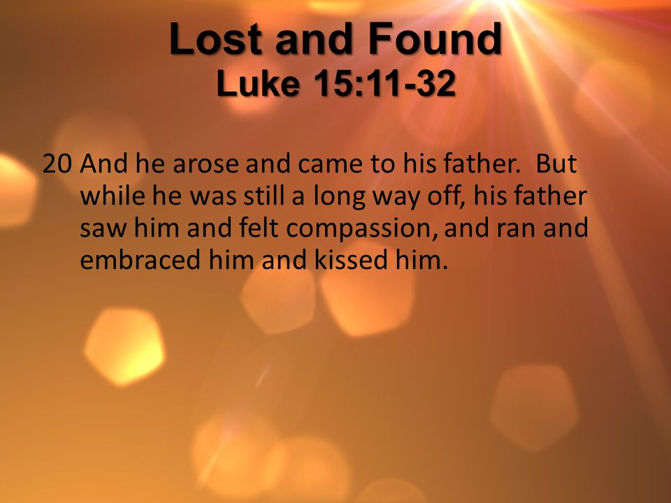 Lost and Found Luke 15:11-32