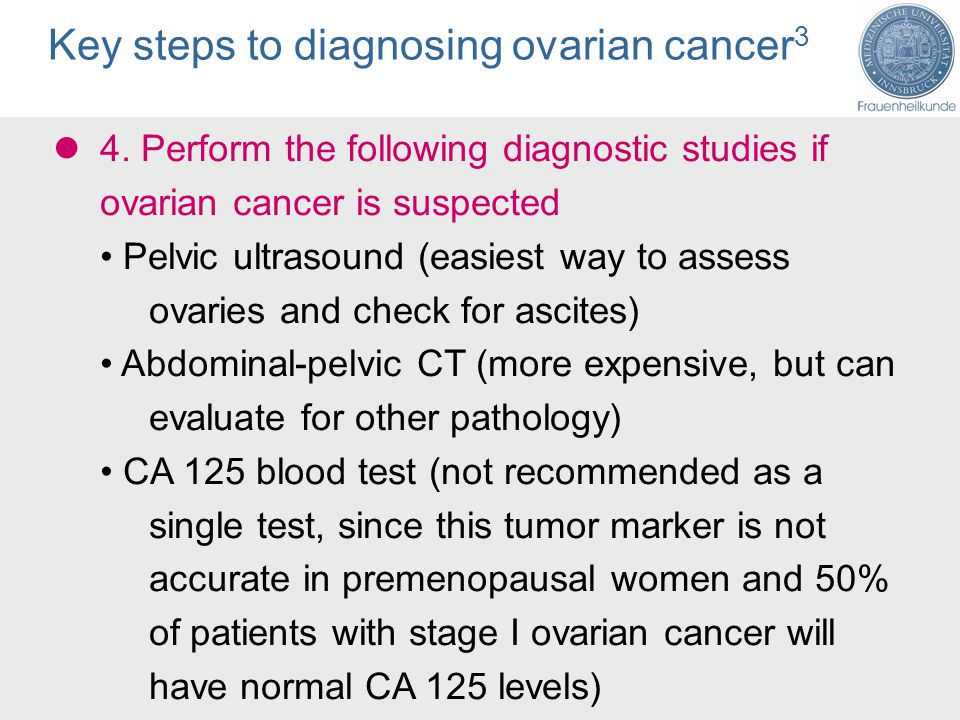 Diagnosis Of Ovarian Cancer Ppt Download