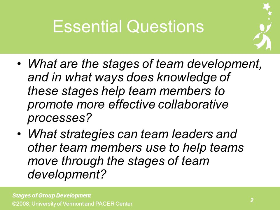 Agenda Opening reflection on team development (10 minutes)
