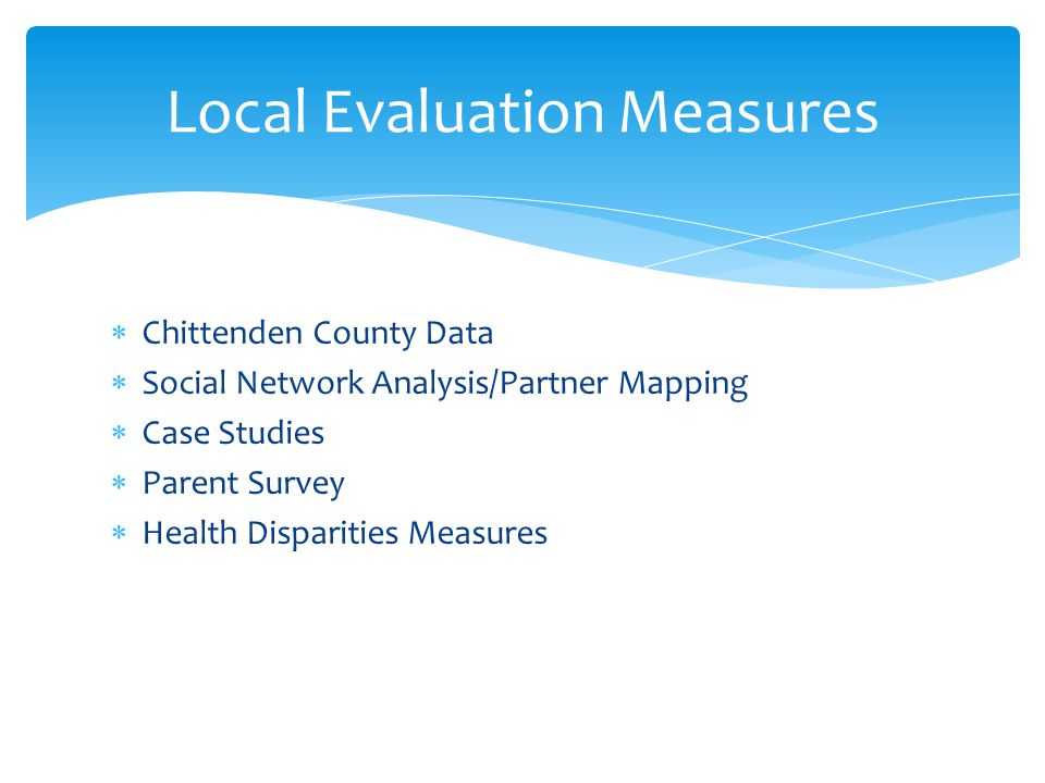 Local Evaluation Measures