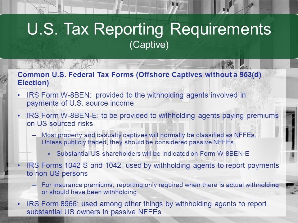 Captive Insurance Considerations In Taxation Ppt Download
