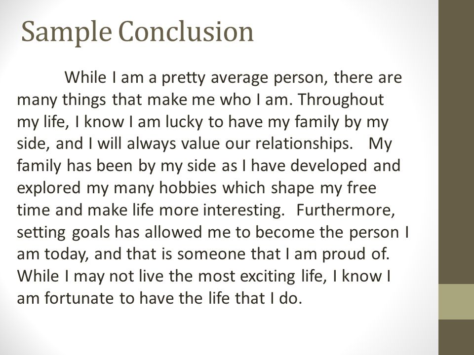 conclusion of family essay