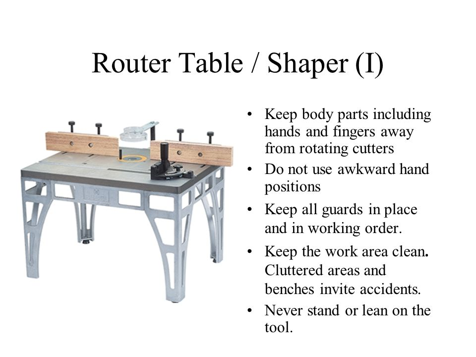 Router Table / Shaper (I)