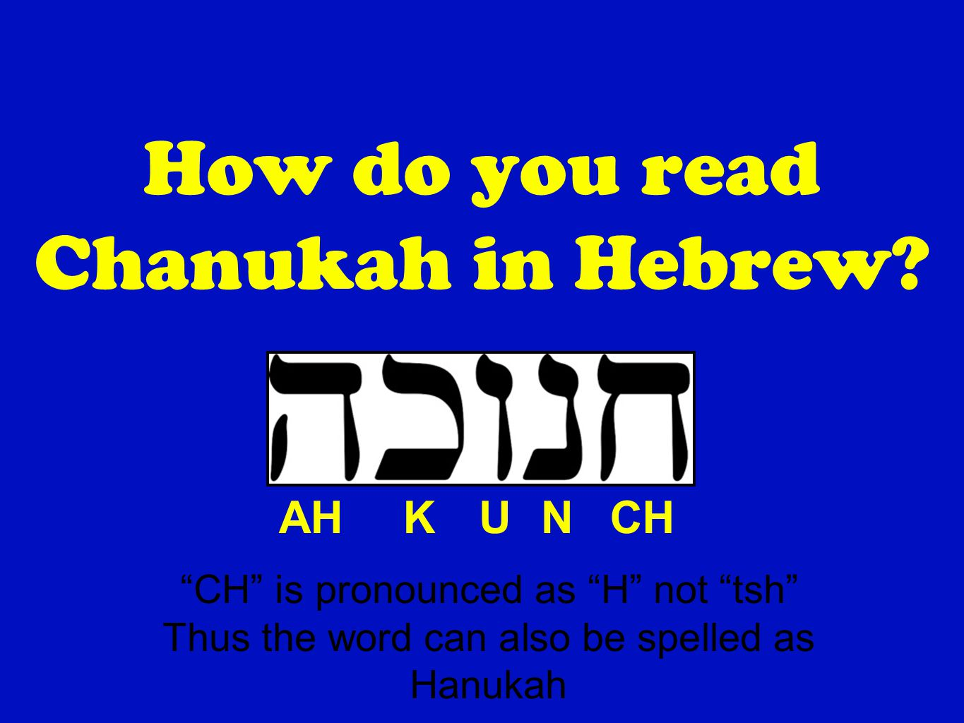 Everything You Should Know About Chanukah By Steve Brenner Ppt