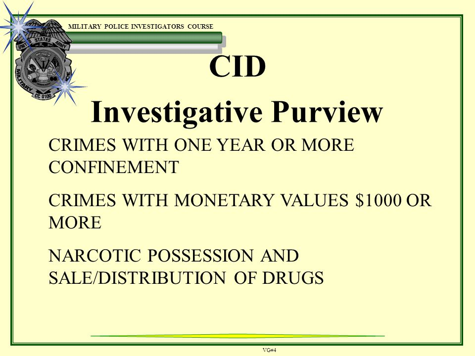 Military Police Investigations - ppt video online download