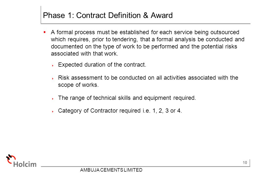 Phase 1: Contract Definition & Award