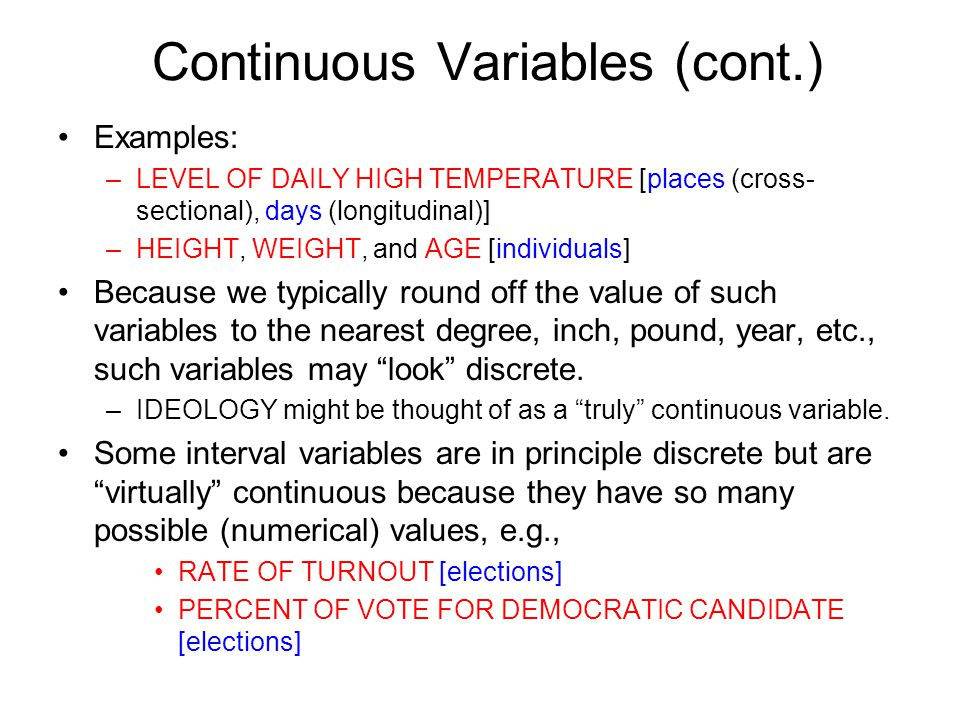 Discrete and continuous variables youtube.