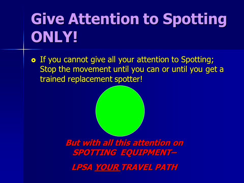 Give Attention to Spotting ONLY!