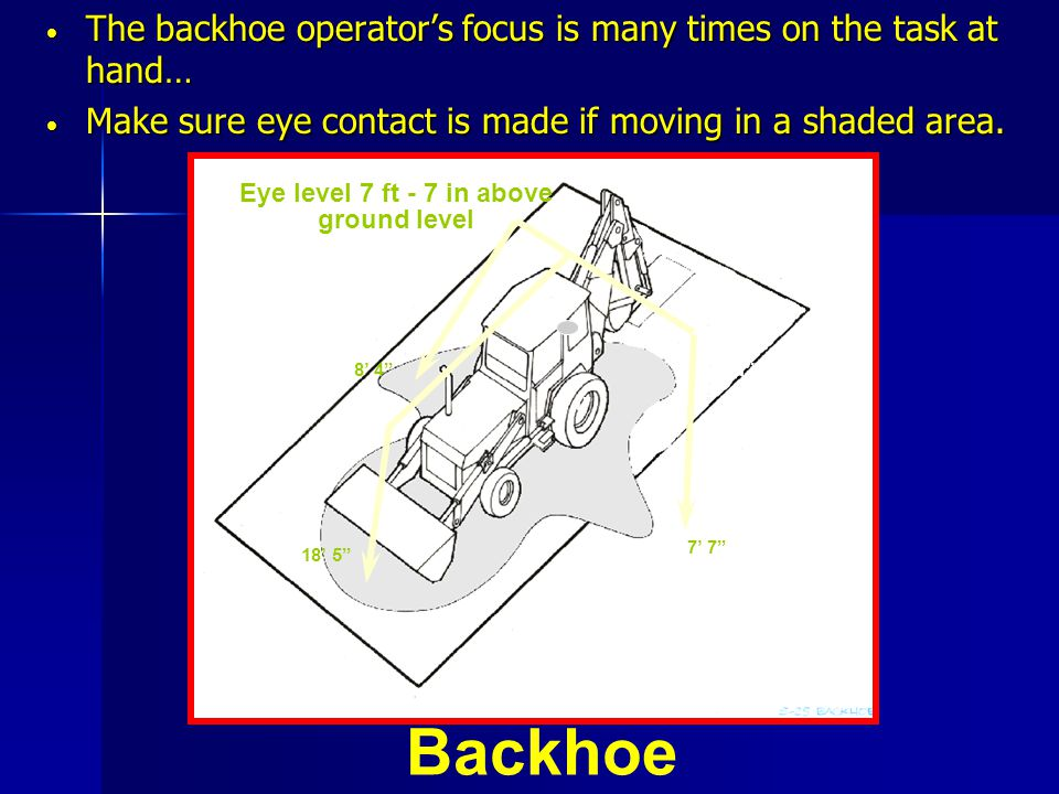 The backhoe operator's focus is many times on the task at hand…