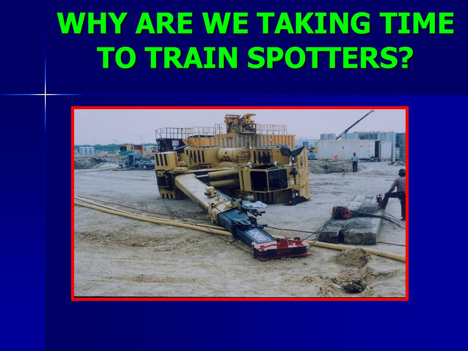WHY ARE WE TAKING TIME TO TRAIN SPOTTERS