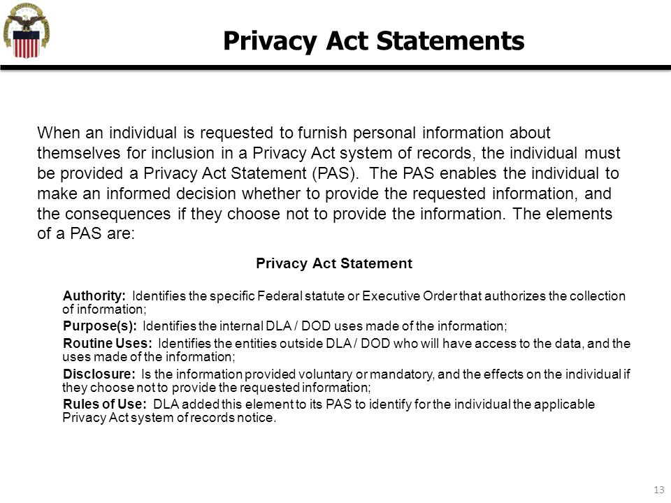 privacy act 101 privacy awareness training ppt video online download Personal Information Protection and Electronic Documents Act privacy act statements