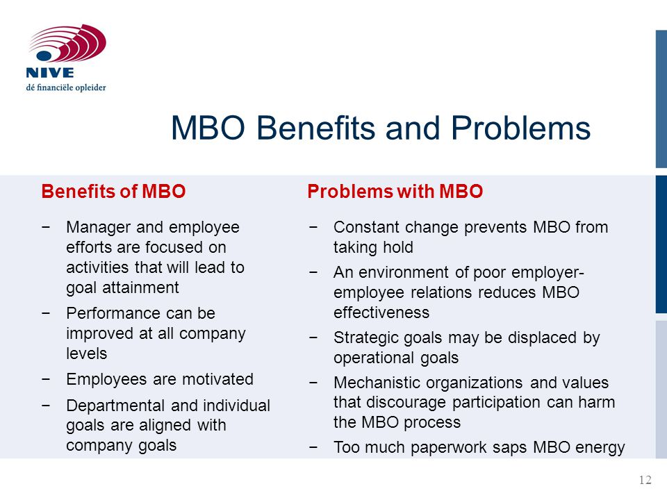 MBO Benefits and Problems