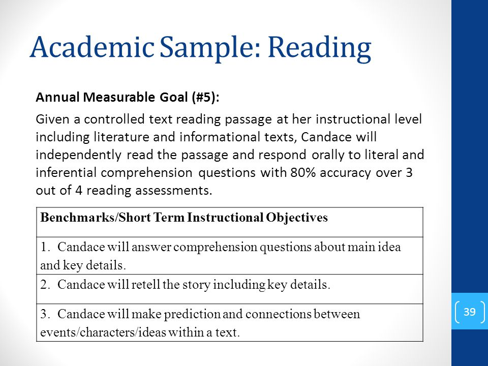 The Three Essential Parts Of Iep Goal >> Writing Meaningful Iep Goals Ppt Download