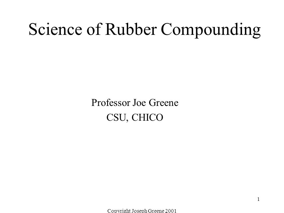 Science of Rubber Compounding - ppt download