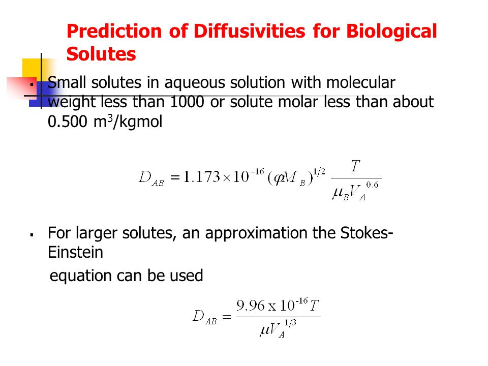 Prediction of Diffusivities for Biological Solutes