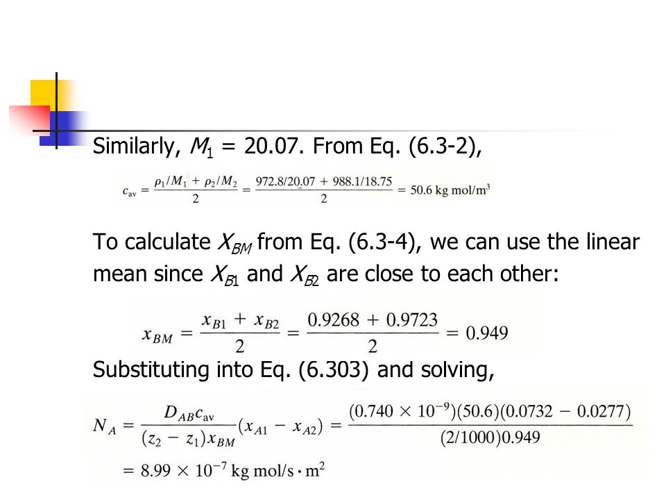 Similarly, M1 = From Eq. (6.3-2),