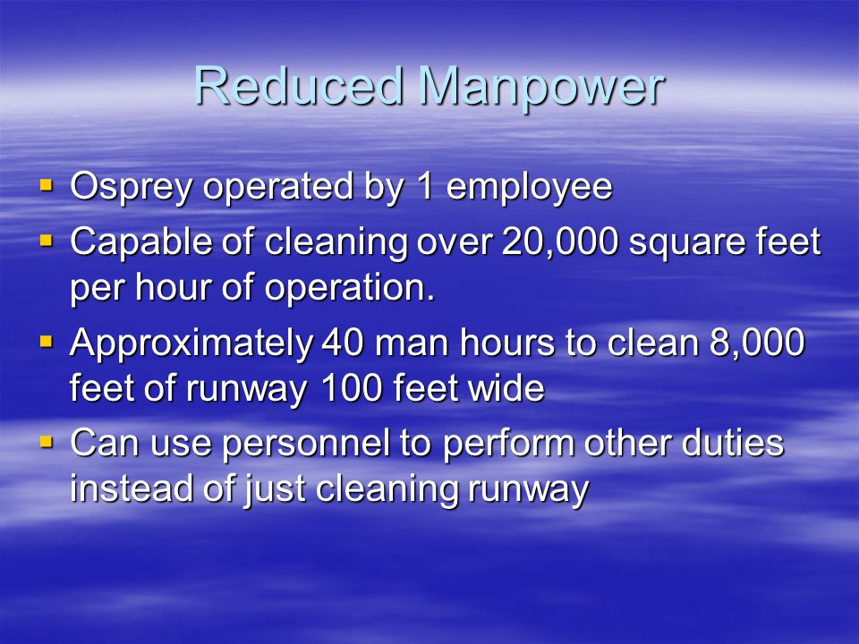 Aviation Runway Cleaning Systems Manufactured by Osprey USA - ppt
