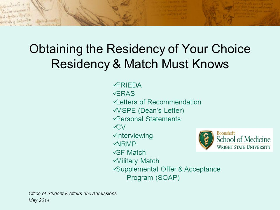 Obtaining The Residency Of Your Choice Residency Match Must Knows