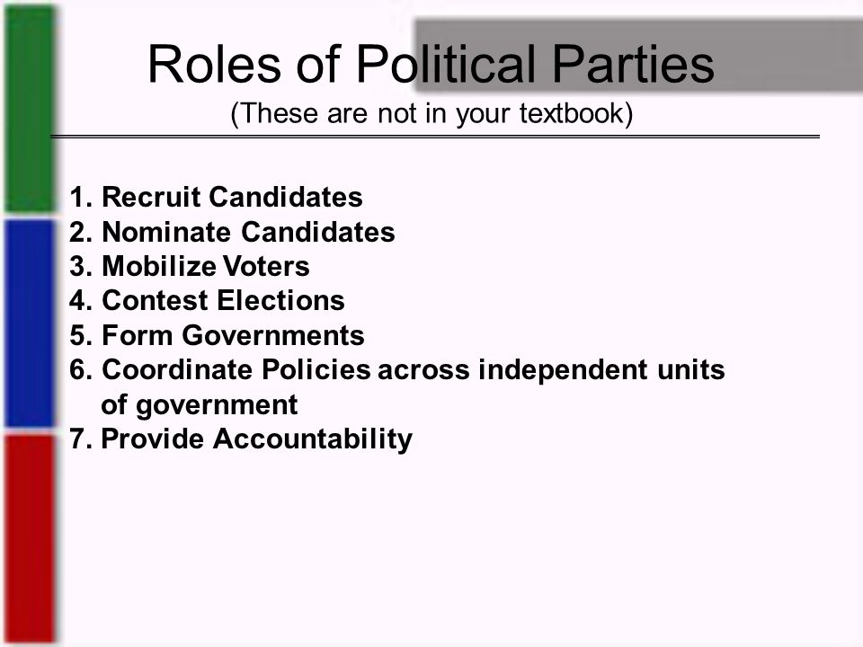 what is the importance of political parties