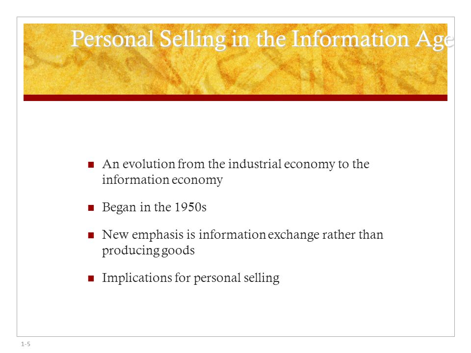 evolution of personal selling