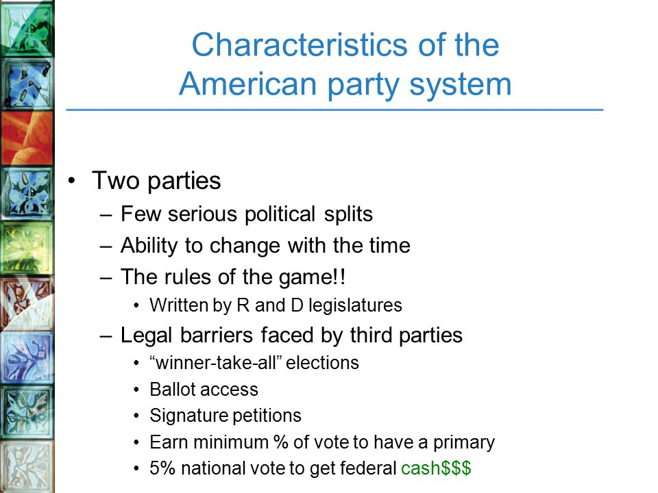 characteristics of two party system